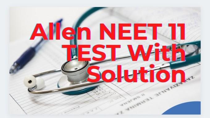 [PDF]Allen NEET 2020 Minor Test Series 2020 Papers