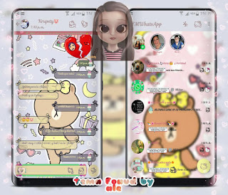 Teddy Bear & Moon Theme For YOWhatsApp & Fouad WhatsApp By Ale