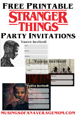 Free Stranger Things party invitations
