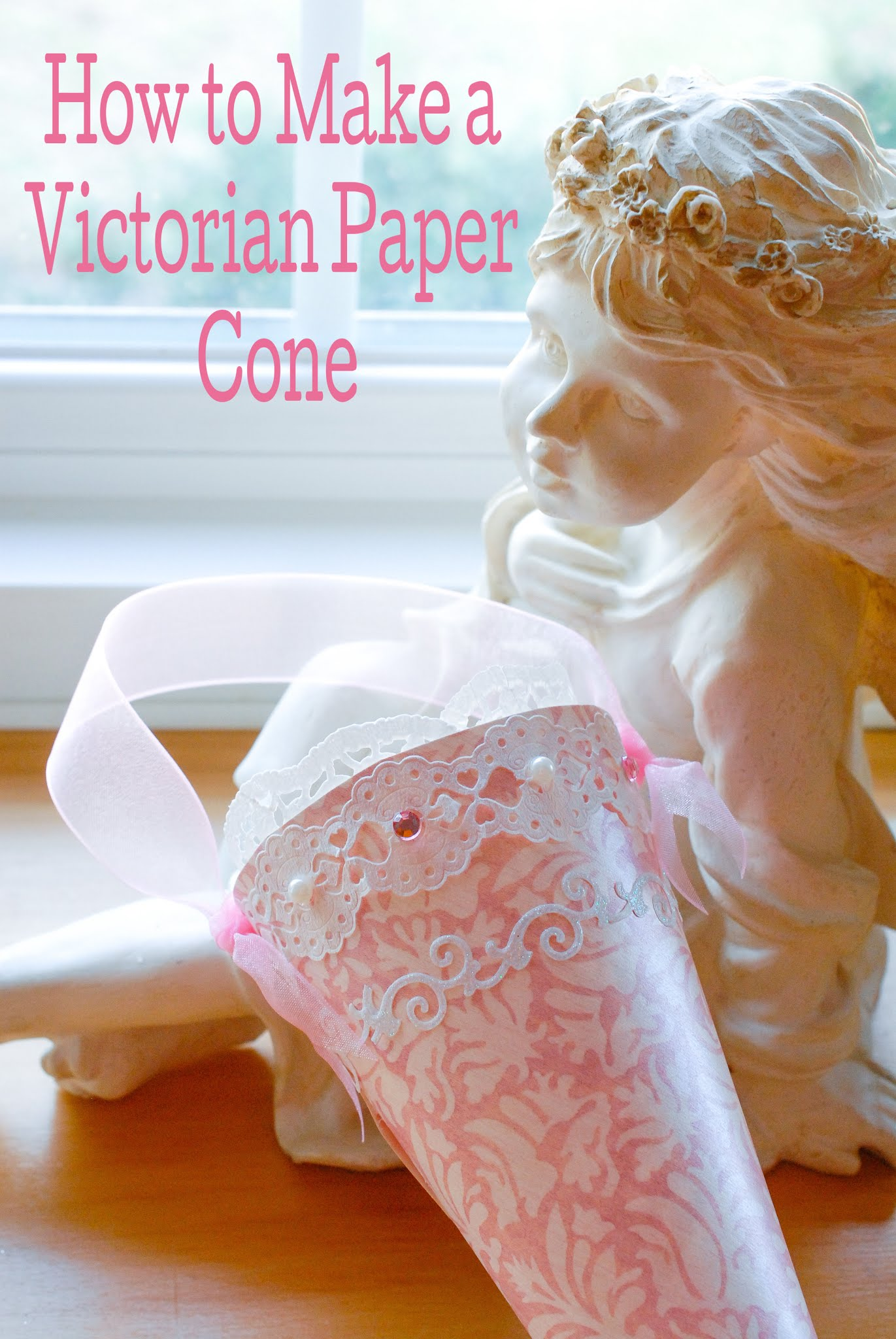 How to make a paper cone for treats or decor