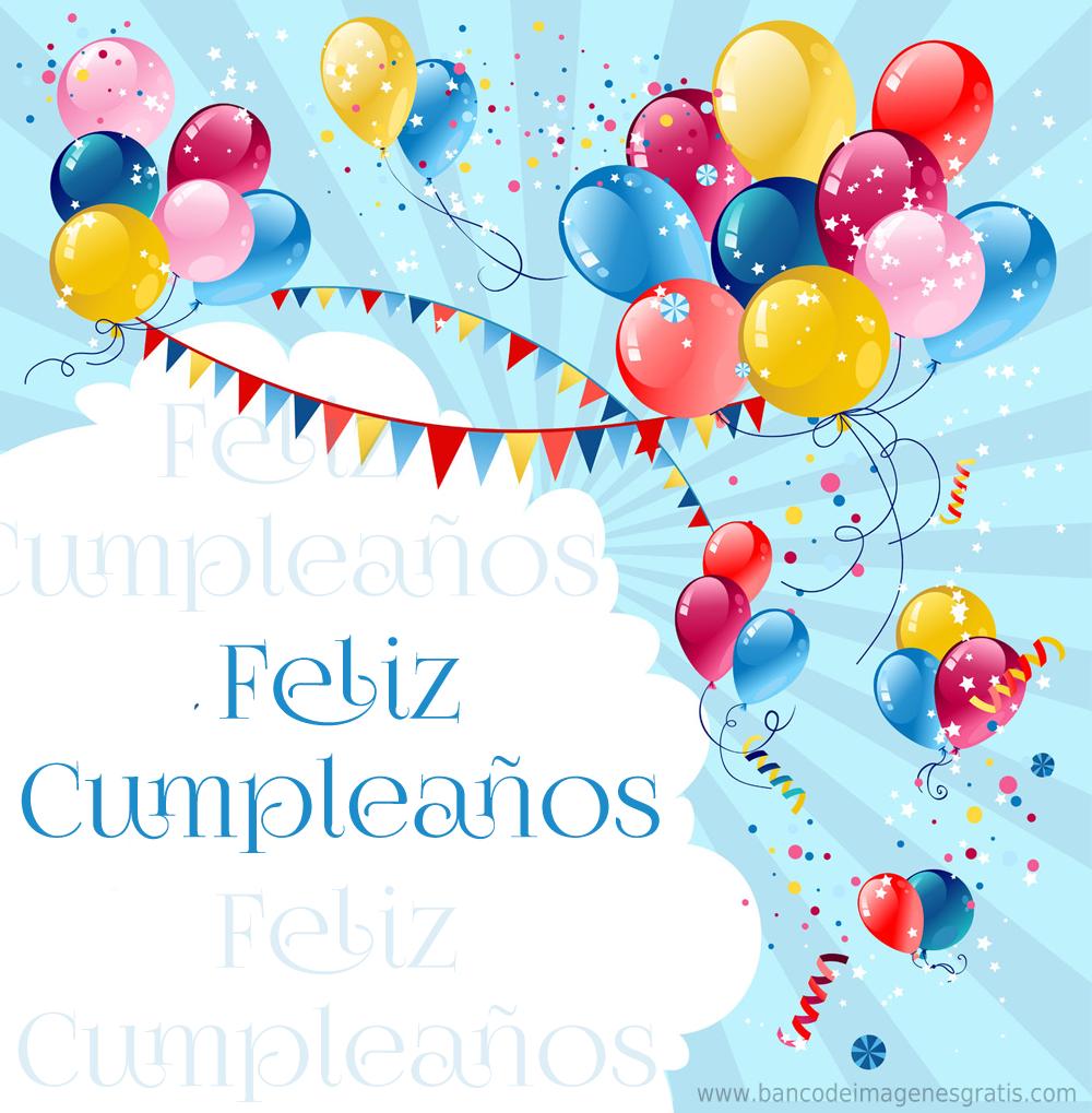 Banco De Imágenes Feliz Cumpleaños Tarjetas Con Mensajes Y Globos