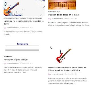 Lá página para aprender piano y guitarra
