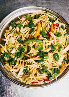 Serving hakka noodles veg for hakka noodles recipe
