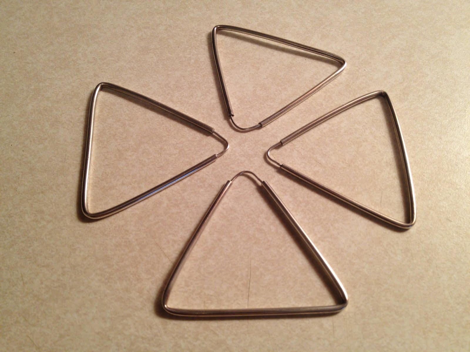 "EBAY Pics: 2 pair of Silver ""Door Knocker"" Triangle Earrings"