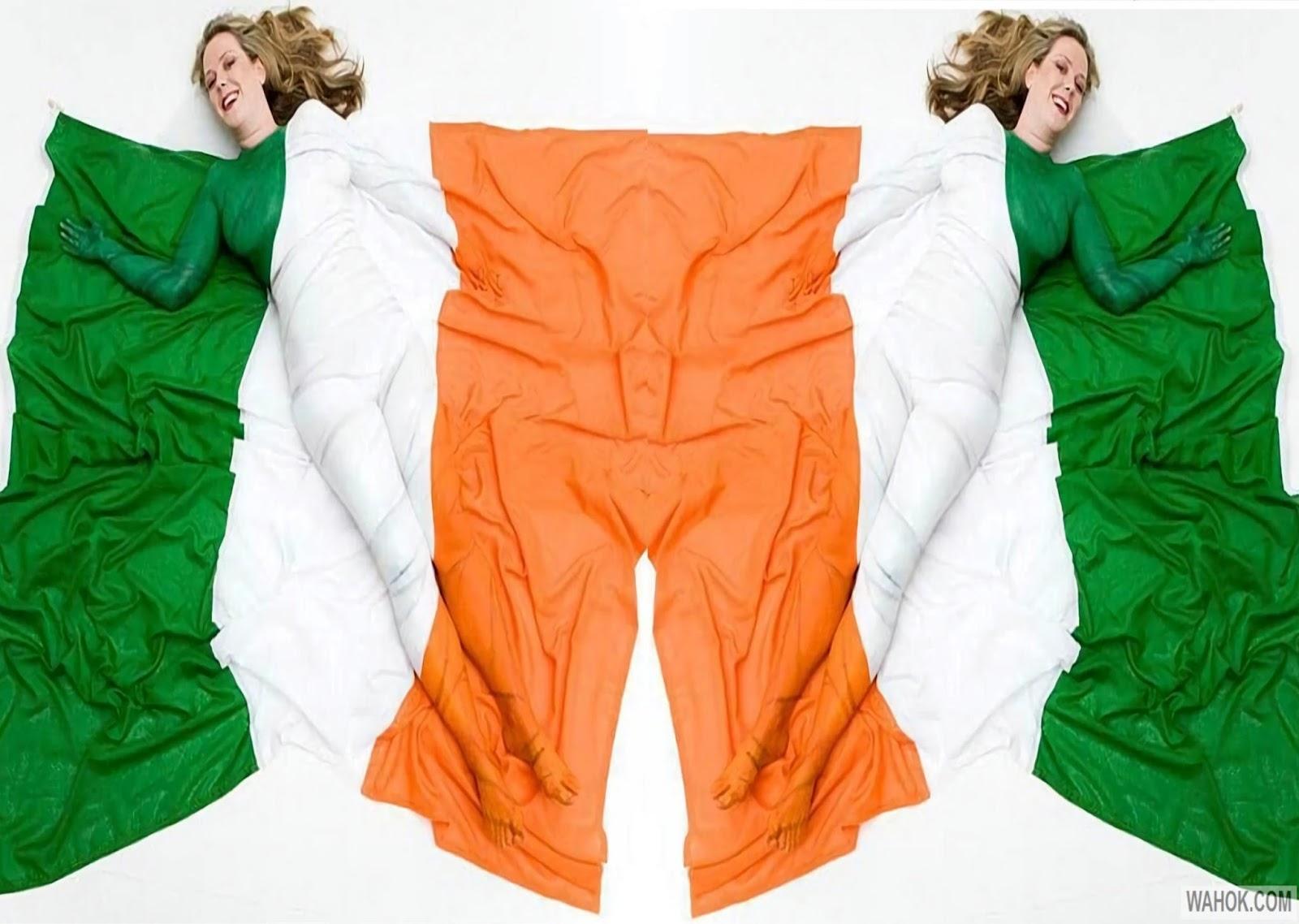 Download 7 Gambar Wallpaper HD Lukisan Bendera Di Tubuh Wanita Paling Seksi Dan Keren
