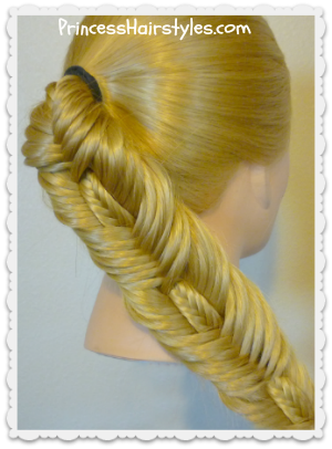 Double fishtail stitched braid hairstyle tutorial