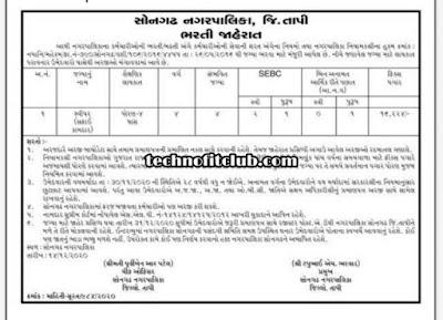 Songadh Nagarpalica Recruitment 2020