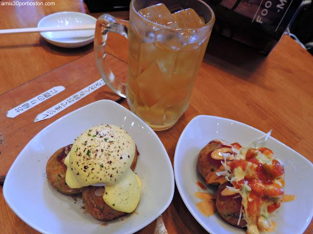 Takoyakis en Gindaco Highball Sakaba en Tokio