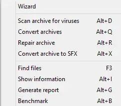 تتيح لك الأدوات فتح المعالج الذي سيرشدك عبر إنشاء أرشيف خاص بك