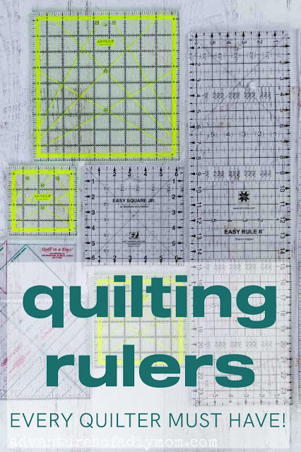 overhead look at several quilting rulers