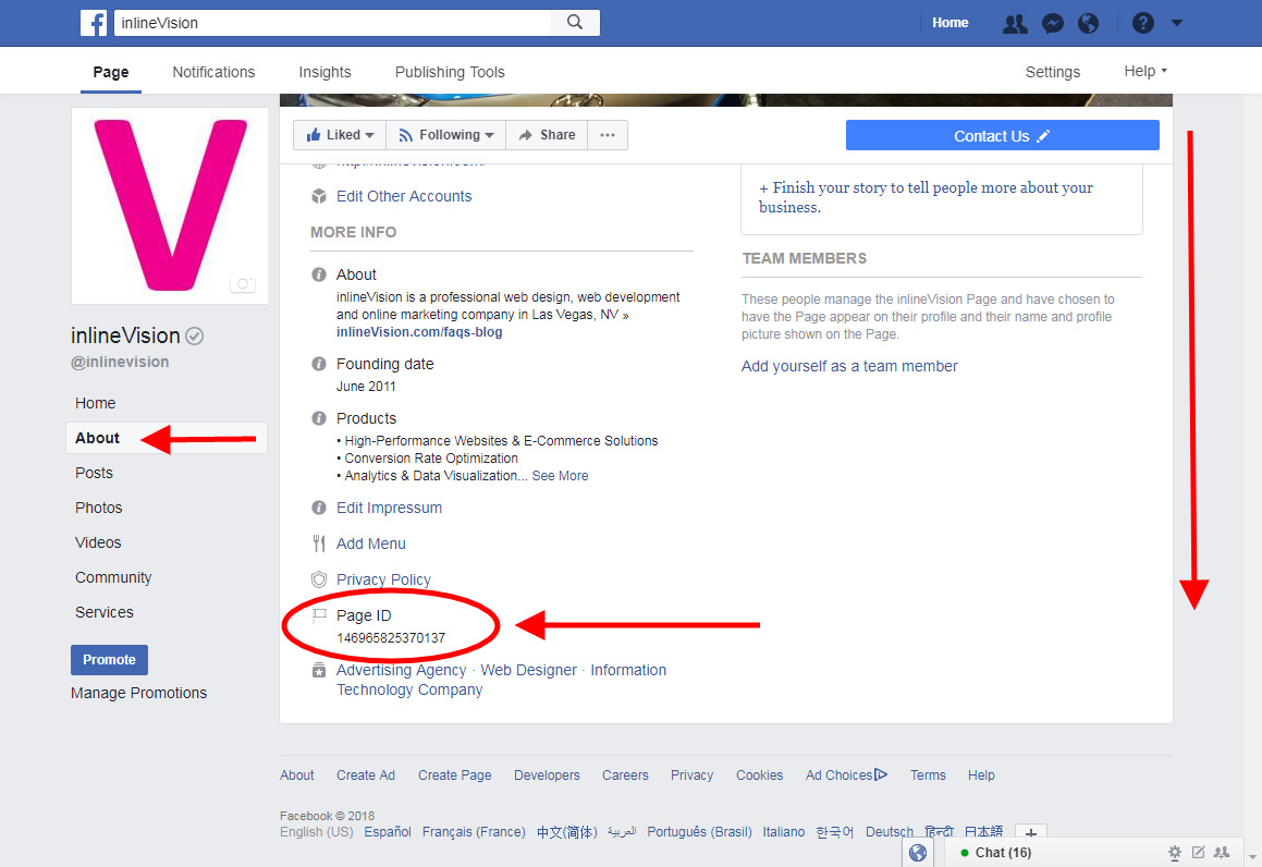 How to find a FB Page ID No.? ~ Tech Notepad