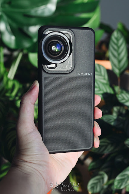 Samsung Galaxy S20 Ultra with Moment Galaxy Thin Case and 18mm Wide Lens
