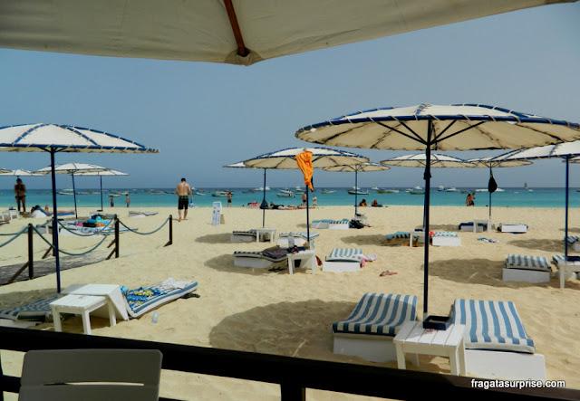 Beach club do Hotel Morabeza, em Santa Maria
