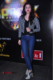 Actress Mannara Chopra Stills in Jeans at Sparx 2017 Curtain Raiser Event  0201.JPG