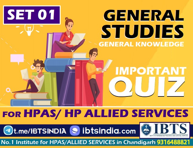 GK & General Studies Quiz for HPAS & HP Allied Services -SET 01