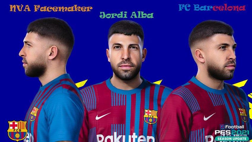 Jordi Alba Face For eFootball PES 2021