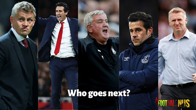 Ole Gunnar Solksjaer, Unai Emery, Steve Bruce, Marco Silva, Dean Smith are all struggling with their teams in the Premier League