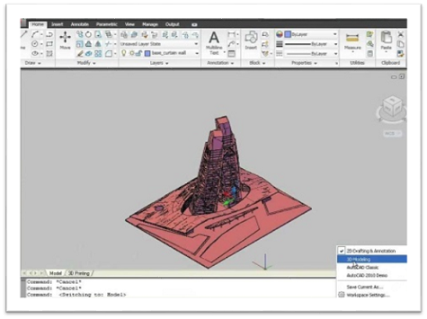 Autocad 3D printing software