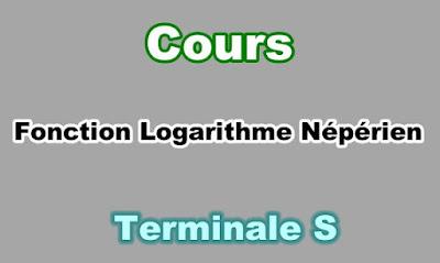 Cours de Fonction Logarithme Népérien Terminale S PDF