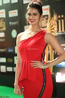 Meenakshi Dixit in Red One Shoulder Red Zipped up gown at IIFA Utsavam Award 44.JPG