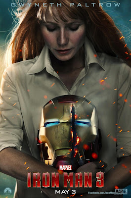 Iron Man 3 One Sheet Character Movie Posters - Gwyneth Paltrow as Pepper Potts