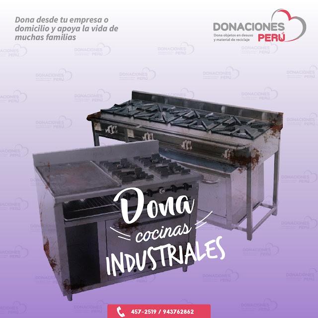 Dona cocinas - Dona cocinas industriales - Donaciones - Dona y recicla - Donaciones Perú