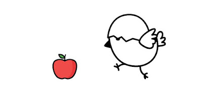 Q 2. The bird must be hungry. It sees an apple in the distance and rushes to eat it.