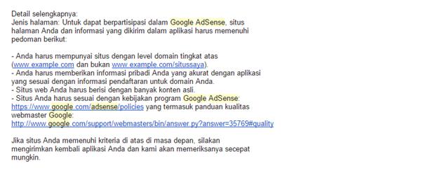 kisah perjuangan seorang blogger mendaftar google adsense