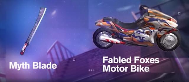 Myth Blade dan Fabled Fox Moto Bike