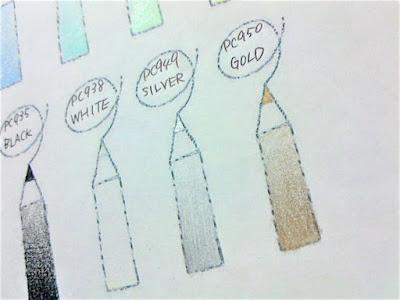 プリズマカラー色見本金銀アップ