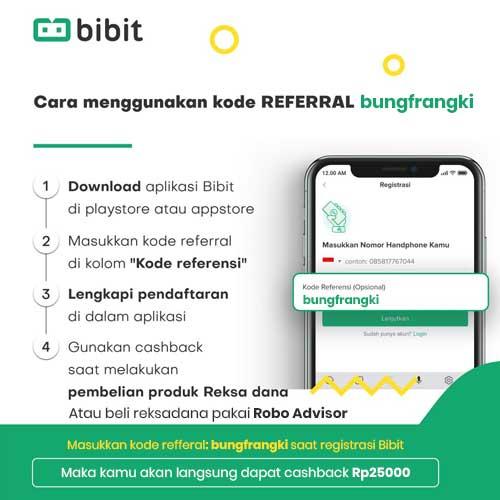 Kode Refferal bungfrangki untuk Bibit