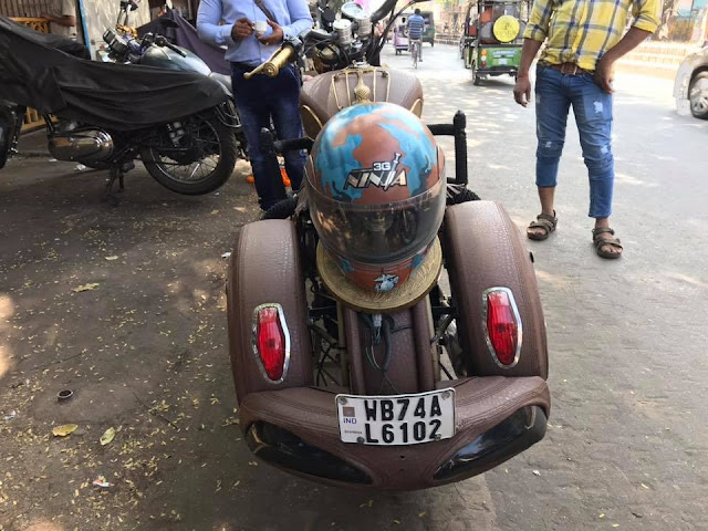 Royal Enfield Classic Modified into Indian Chief
