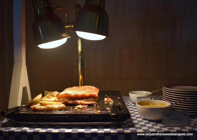 pork in JW Marriott Dubai brunch