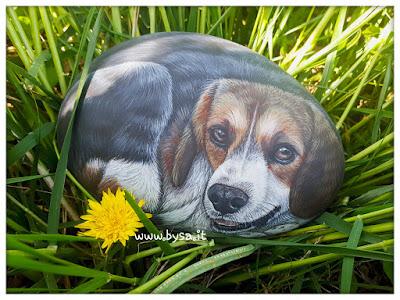 sassi dipinti beagle prezzi