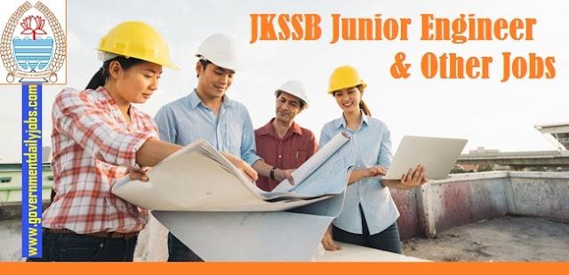 JKSSB Junior Engineer Jobs 2021