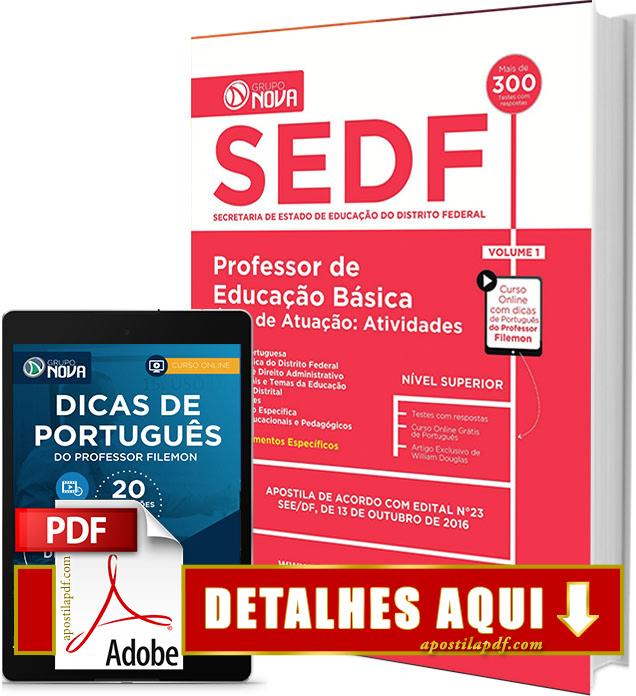 Apostila SEDF 2016 Professor de Educação Básica Impressa