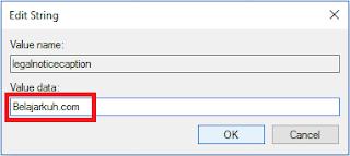 Membuat Pesan Unik Pada Saat Login Windows