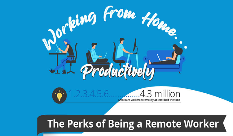 Tips for Working Remotely and Productively #infographic