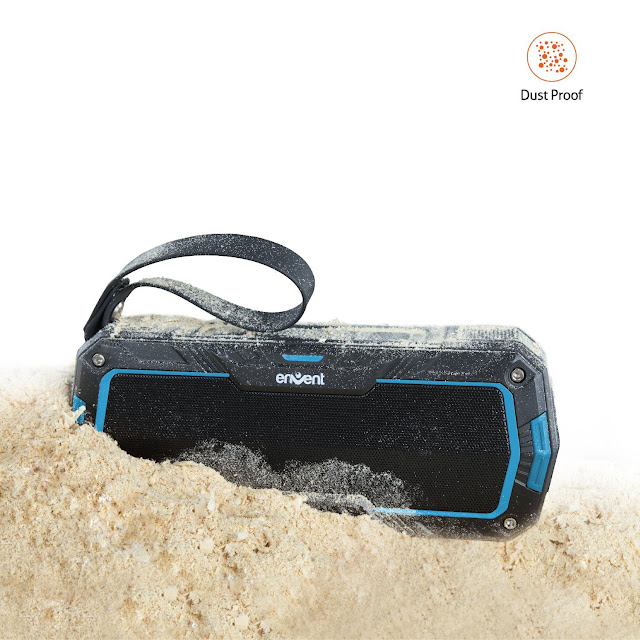 Envent Live Free ET-BTSP530 Wireless Portable Bluetooth Speaker (Black/Blue)