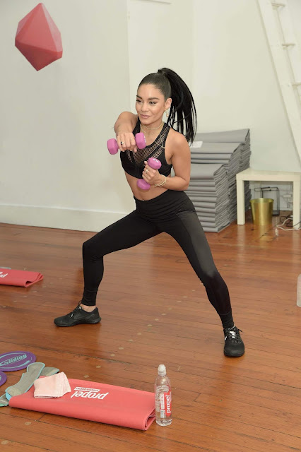 Vanessa Hudgens - Works out with Propel Vitamin Boost during a launch event in NYC - Mon May 13 2019