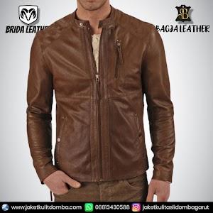 Jual Jaket Kulit Asli Garut Pria Domba Original Brida Leather B64 | WA 08813430588