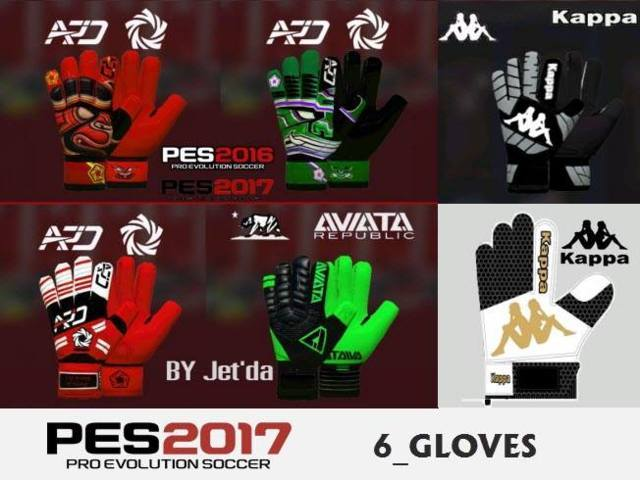 PES 2017 6 GK Gloves by Jet'da