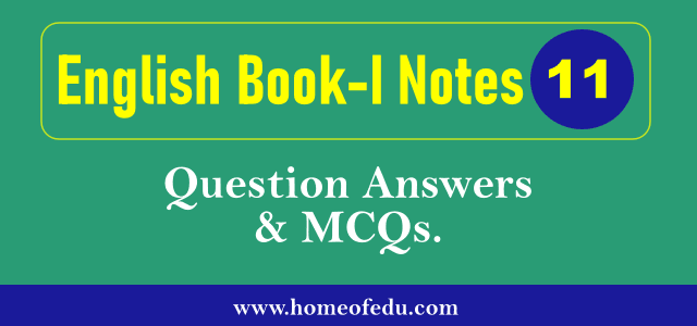 1st Year English Book-1 Notes PDF Download