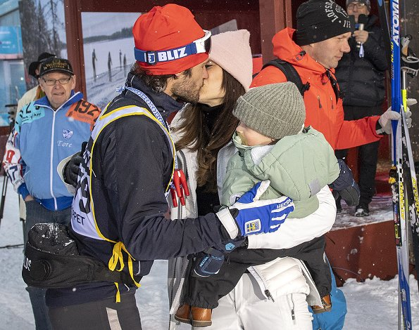 Princess Sofia came to Mora Stadium together with her kids Prince Alexander and Prince Gabriel