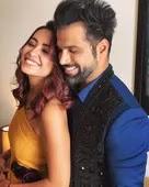 Asha Negi with her boyfriend