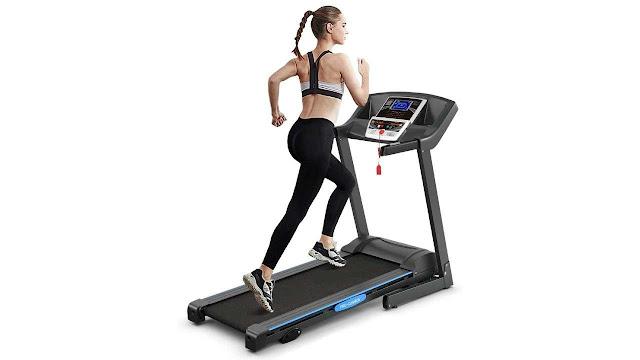 GYMAX Electric Folding Cardio Exercise Treadmill