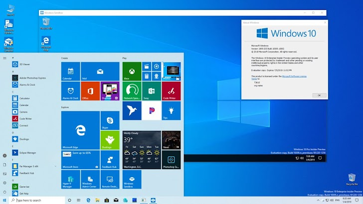 Microsoft Rilis Windows 10 Insider Preview Build 18309 Untuk Fast Ring