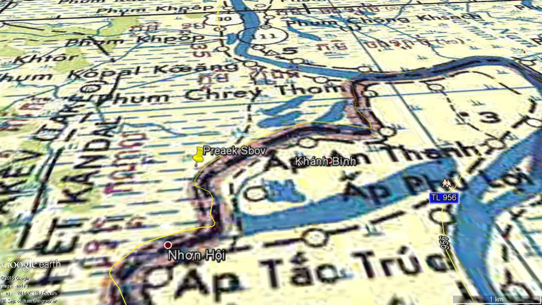 Cambodia Military Science Cambodia Complaints Boundary Violation - Map violation