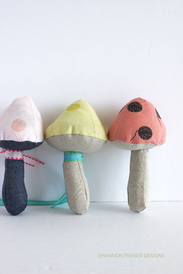 Mushroom Catnip Toys | Patchwork Gifts Book Tour | Shannon Fraser Designs #sewing #cute #diy #catnip #cattoy #patchwork
