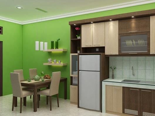 Gambar Interior Desain Dapur Unik Kalem Minimalis ...